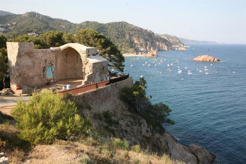 Direction la playa - Tossa de Mar (Espagne)